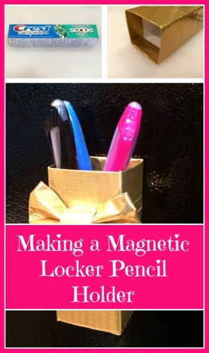 Making a Magnetic Locker Pencil Holder