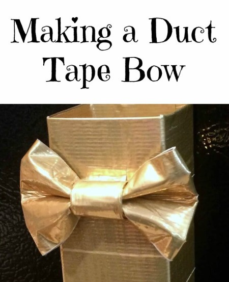 Making a Duct Tape Bow
