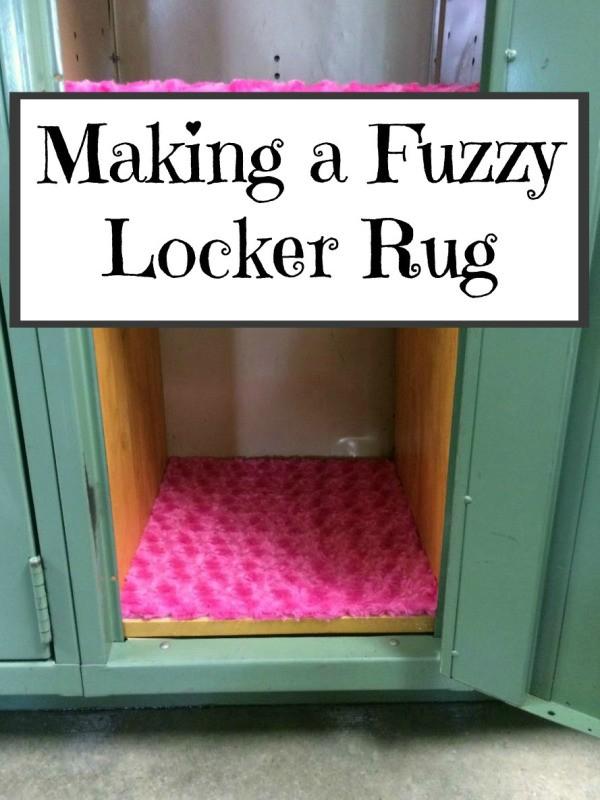 Making A Fuzzy Locker Rug Thriftyfun