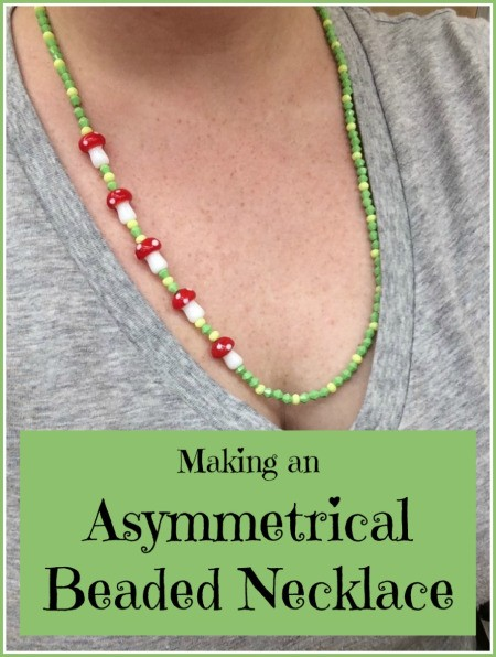 Simple Asymmetrical Beaded Necklace