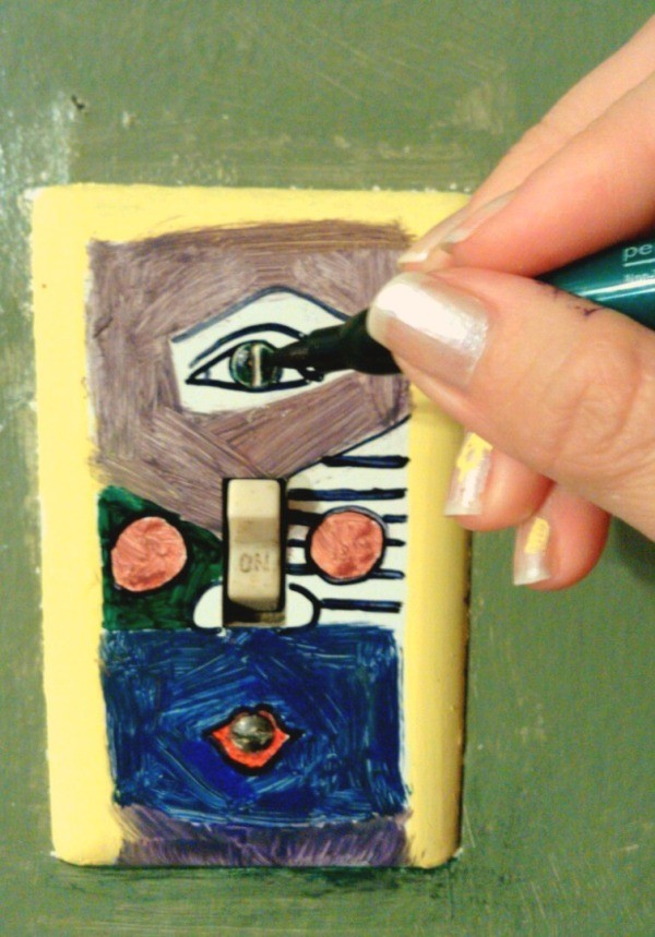 Making A Picasso Light Switch Plate Cover Thriftyfun