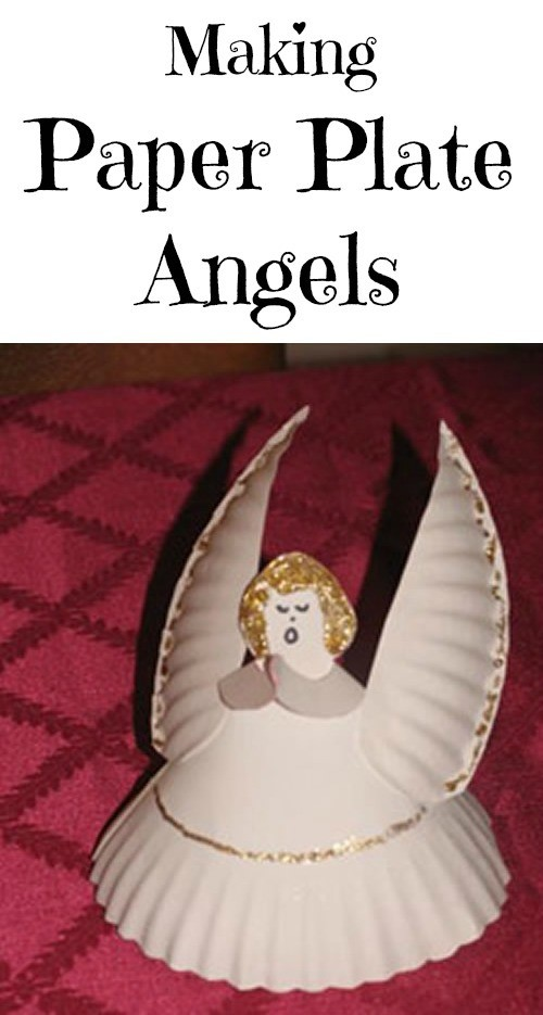 Making Paper Plate Angels