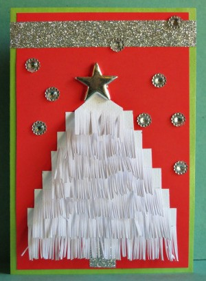 Snow Pine Christmas Card