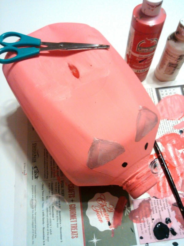 Making A Gallon Milk Jug Piggy Bank Thriftyfun