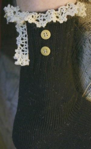 closeup of sock