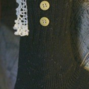 closeup of sock