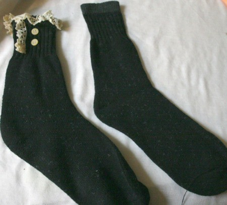 Lace and Button Socks