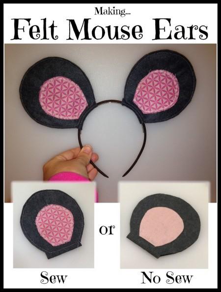 Making Felt Mouse Ears