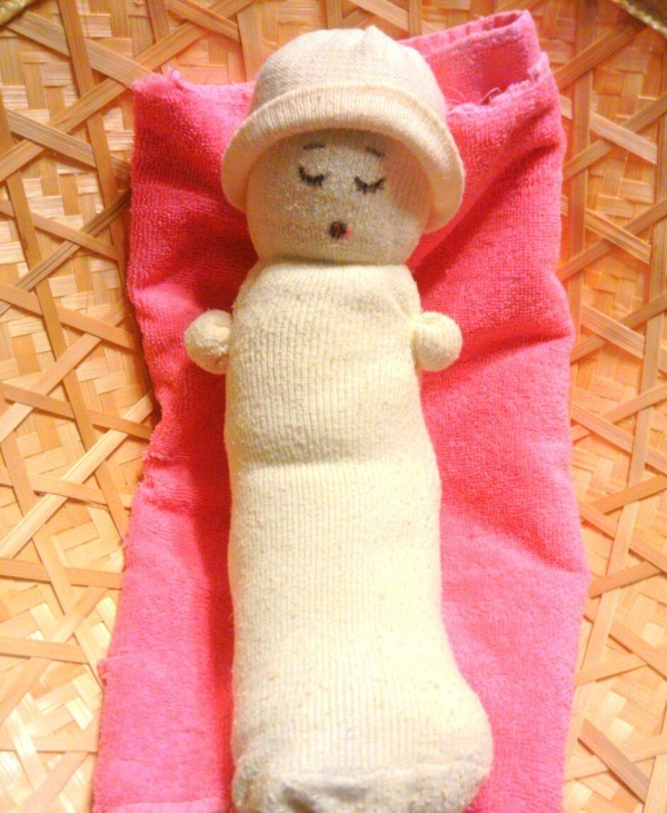 No Sew Sock Baby Doll Thriftyfun