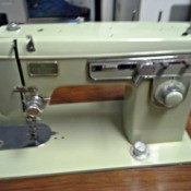 pale green sewing machine