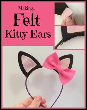 Making Felt Kitty Ears