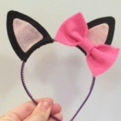Making Felt Kitty Ears