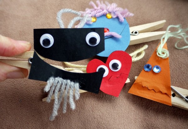 Easy Peg Puppets Thriftyfun