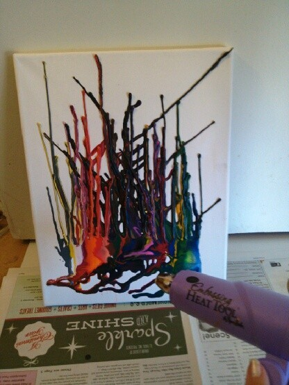 Melted Crayon Masterpiece
