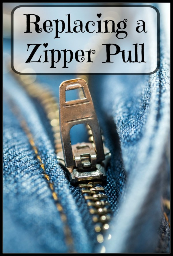 Replacing A Zipper Pull L on Zipper Pin Replacement