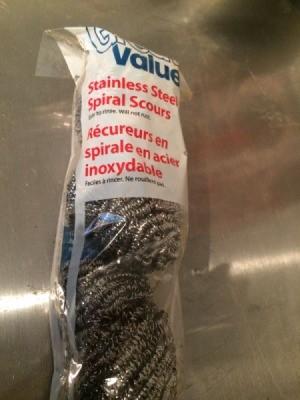 package of steel scrubbers