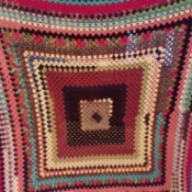 Crochet Stained Glass Scrap Afghan