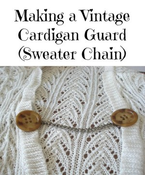 Vintage Cardigan Guard (Sweater Chain)