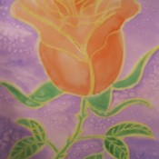 Rose Watercolor Resist Painting