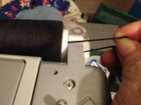 Using Large Spools on a Sewing Machine