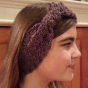 Bow Style Winter Crochet Headband