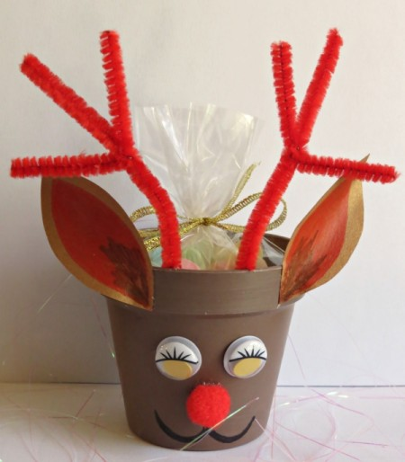 Red Nosed Reindeer Candy Box