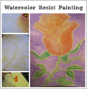 Watercolor Resist Painting