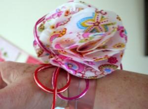 How to Make a Fabric Wrist Corsage