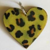 Leopard Print Key Ring