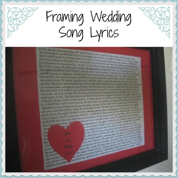 Framing Wedding Song Lyrics