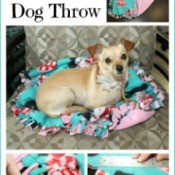 Making a No-Sew Dog Throw