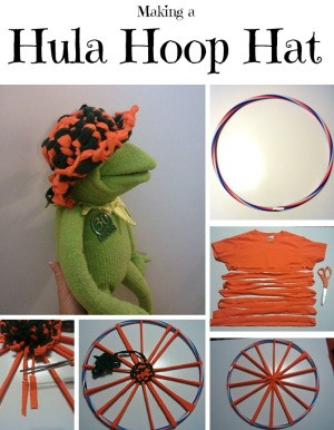 Making a Hula Hoop Hat