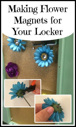 Making Flower Magnets for Your Locker