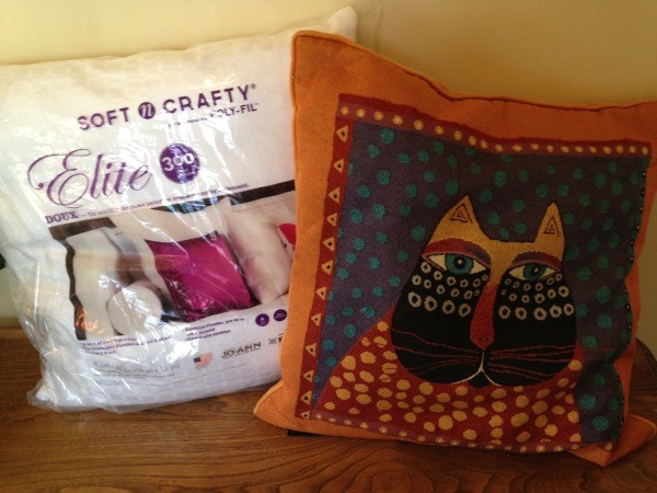 pillow and new pillow form ready to repair