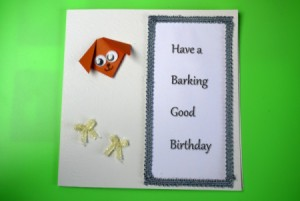 front of Dog Lover's Greetings Card