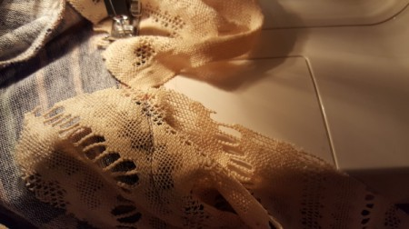 Lengthening a Dress - trim off any excess lace