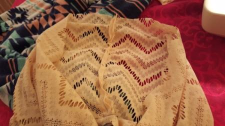 Lengthening a Dress - sewn lace edges
