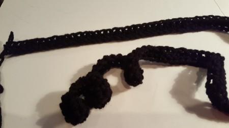 Striped Crochet Scarf