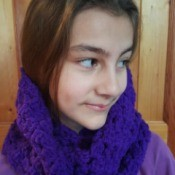 young girl wearing the cowl
