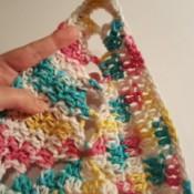 Crochet Triangle Dishcloth