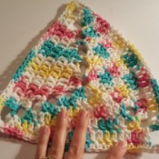 Crochet Triangle Dishcloth