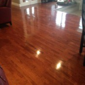 shiny hardwood floor