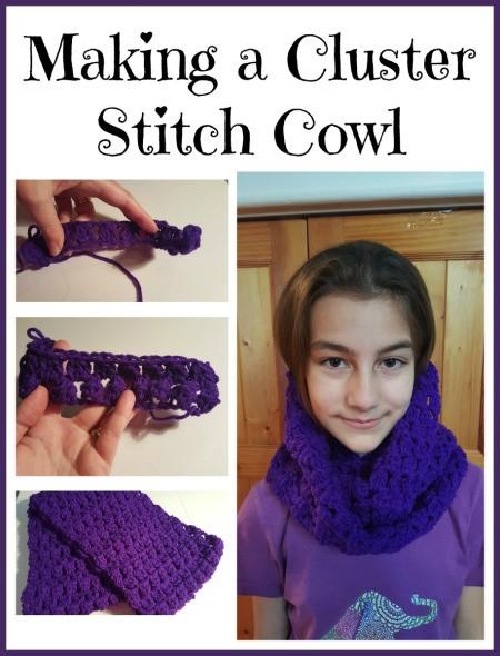 Making a Cluster Stitch Cowl