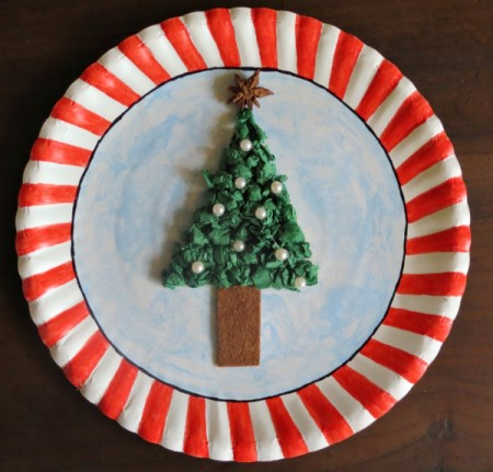 Paper Plate Christmas Collage