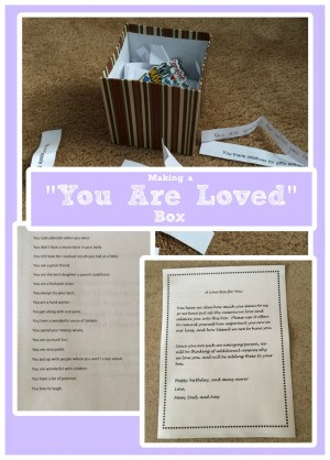 "Making a ""You Are Loved"" Box"