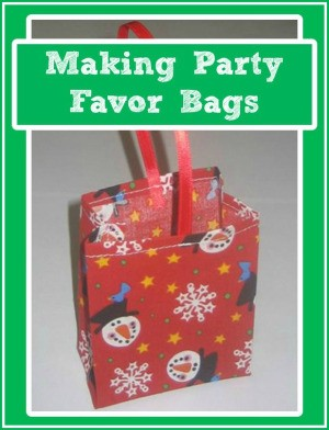 Making Party Favor Bags
