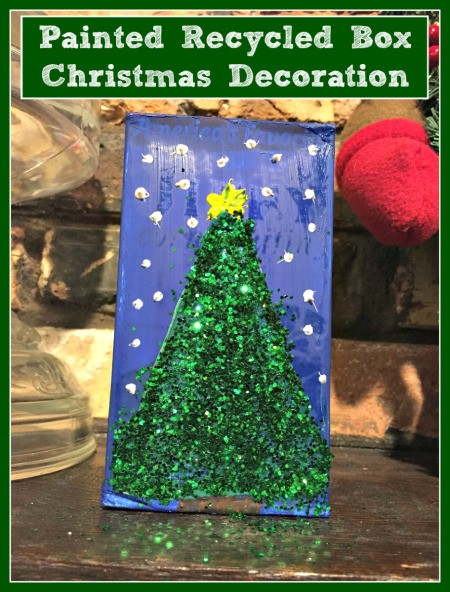 Painted Recycled Box Christmas Decoration