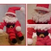 Making a Crochet Broomstick Santa