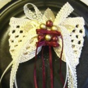Crocheted Holiday Hair Bow