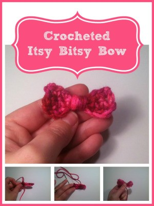 Making a Crocheted Itsy Bitsy Bow